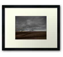 ploughed field - Wiltshire Framed Print