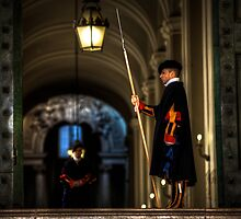 Papal Swiss Guards - Vatican  by Gavin Poh