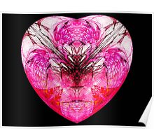 Pink Heart Dedicated 2the1Eye♥  (UF0116) Poster