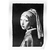 Vermeer - study in pencil Poster