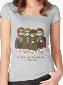 That's how we roll in the Shire  Women's Fitted Scoop T-Shirt