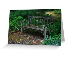 Bench - Pacific Rim Bonsai Collection and Rhododendron Garden Greeting Card