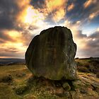 The Anvil stone Baslow Edge Derbyshire by Roy Childs
