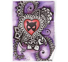Cat Mask Henna Poster