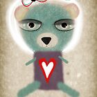 Loneliness teddy bear by Ruth Fitta-Schulz