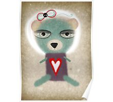 Loneliness teddy bear Poster
