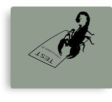 Study-Buddy Scorpion Canvas Print