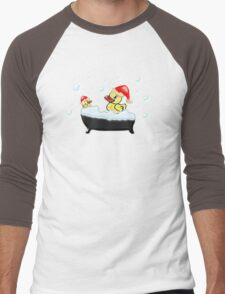 Christmas Ducks Men's Baseball ¾ T-Shirt