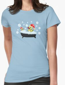 Christmas Ducks Womens Fitted T-Shirt