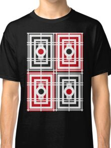 Trippy red & black squared pattern 2 Classic T-Shirt