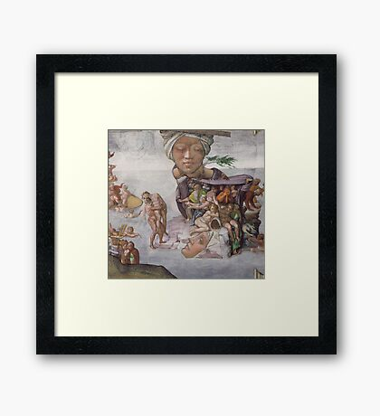 M Blackwell - The Tragedy of Age... Framed Print