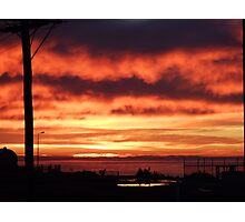 Morning Sky On Fire Photographic Print