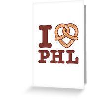 I <3 PHL Greeting Card