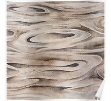 Wooden Texture painted in watercolor Poster
