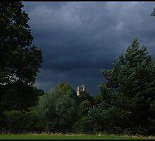 Storm over Donnington Castle - Newbury by MigBardsley