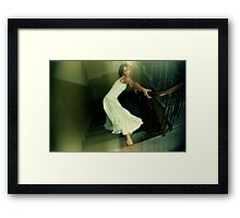 Stair crawl Framed Print