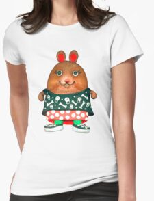 punk pet hamster Womens Fitted T-Shirt