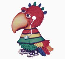 rasta parrot by claygirrl