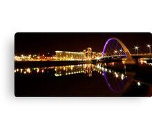 Squinty Bridge Reflection Canvas Print
