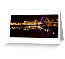 Squinty Bridge Reflection Greeting Card