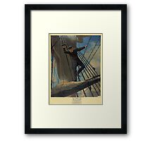 Lashed to the Shrouds Farragut passing the forts at Mobile in his flagship Hartford Framed Print