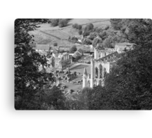 Looking Down on Rievaulx Abbey Canvas Print