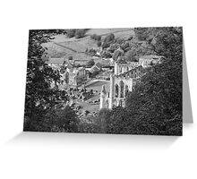 Looking Down on Rievaulx Abbey Greeting Card