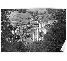 Looking Down on Rievaulx Abbey Poster