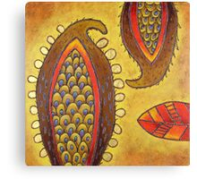 Paisley Pods Canvas Print