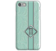1920s Blue Deco Swing with Monogram letter M iPhone Case/Skin