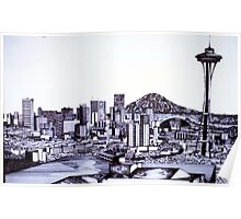 SEATTLE SKYLINE Poster