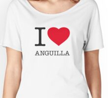 I ♥ ANGUILLA Women's Relaxed Fit T-Shirt