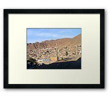 La cuidad que no me esperaba, Antofagasta - Chile Framed Print