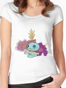 Stay Weird with Scrump Women's Fitted Scoop T-Shirt