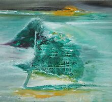 Green house near the tree by Dmitri Matkovsky