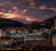 Sundown At Hebden Bridge by Sandra Cockayne