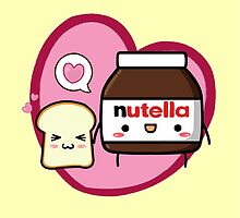 Kawaii Nutella and sandwich bread by spazivuoti