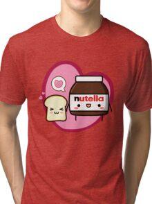 Kawaii Nutella and sandwich bread Tri-blend T-Shirt