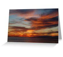 Sunset - St Simons Island, GA Greeting Card