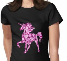 Pink Unicorn - Animal Art Womens Fitted T-Shirt