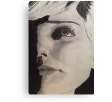 Elegant and Natural Beauty- Face Study Canvas Print