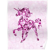 Pink Unicorn - Animal Art Poster