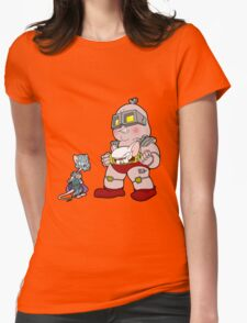 Gee Kraang what are gonna do tonight? Womens Fitted T-Shirt
