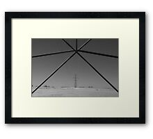 electrical wire Framed Print
