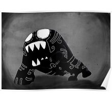 Dark Cute Monster Poster