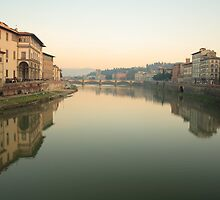 Arno River - Florence by Tom Croll