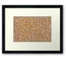 Cork Board Framed Print