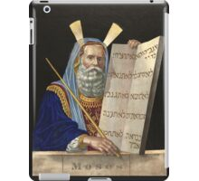 Moses with the Ten Commandments by Henry Schile (1874) iPad Case/Skin