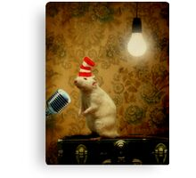 Ralph Liked To Sing.... Canvas Print
