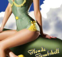 Blonde Bombshell Vintage Pinup Sticker